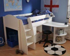 Eli midsleeper with optional storage and desk
