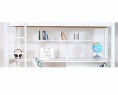 Nordic full length desk with bookshelves