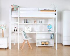 Nordic loftbed with optional full length desk