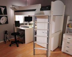 Noah loft bed with optional desk and storage