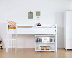 Nordic midsleeper bed with optional bookcase