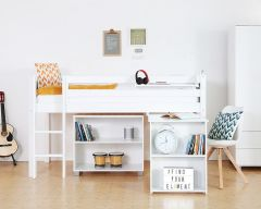 Nordic midsleeper with optional desk and bookcase