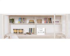 Custom full length desk with bookshelves